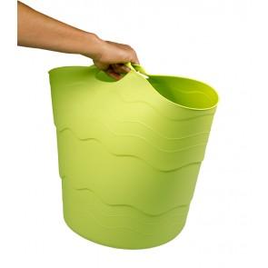Plastový koš FLEX, 30 l, zelený - POSLEDNÍCH 9 KS