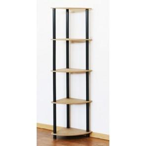 Regál rohový kombinovaný Dedal, 5 políc, 142x33x33 cm