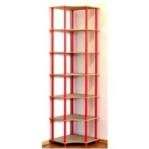 Regál rohový kombinovaný Dedal, 7 políc, 210x55x55 cm