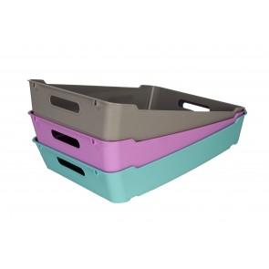 Plastový box LOFT A4, sivý, 37x28x6,5 cm