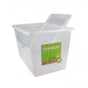 Plastový box Basixx 52l, priehľadný, 59x39x35 cm