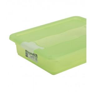 Plastový box Crystal 7 l, svieži zelený, 39,5x29,5x9,5 cm