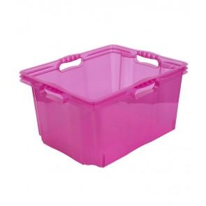 Plastový box Multi XL, svieža ružový, bez veka, 43x35x23 cm