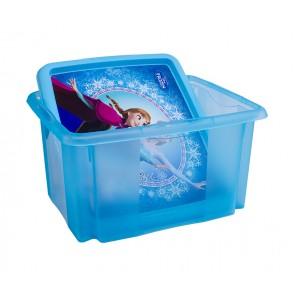 Plastový box Frozen, 24l, modrý s vekom, 41x34x22 cm