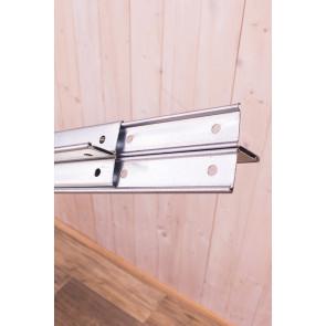 Kovový regál Idea, 5 políc, 240x80x60 cm, 150kg