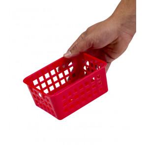 Plastový košík, A7 červený, 14x11x6 cm - POSLEDNÝCH 15 KS