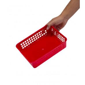 Plastový košík, A5, červený, 24,5x18,5x6 cm - POSLEDNÝCH 8 KS