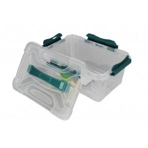 Plastový Clippy box, 4,2 l, priehľadný, 29x19x12,4 cm