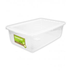 Plastový box Basixx 30 l, priehľadný, 59x39x18 cm