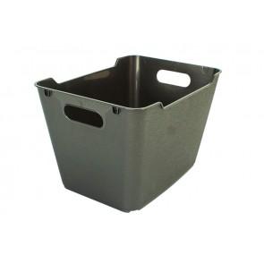 Plastový box LOFT 6 l, grafit, 29,5x19x15 cm.