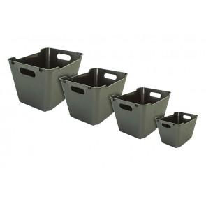 Plastový box LOFT 1,8 l, grafit, 19,5x14x10 cm.