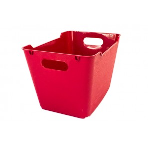 Plastový box LOFT 1,8 l, tmavo červený, 19,5x14x10 cm.