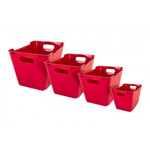 Plastový box LOFT 1,8 l, tmavo červený, 19,5x14x10 cm. POSLEDNÝCH 18 KS