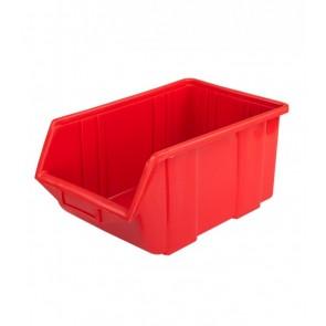 Box na drobný materiál, malý, červený, 11x16,5x7,5 cm
