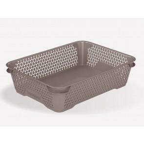 Plastový košík Mirko, A5, sivý 26,5x20x7 cm