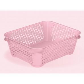 Plastový košík Mirko, A6, ružový, 20x16x7 cm