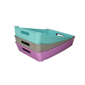 Plastový box LOFT A4, svetlo modrý, 37x28x6,5 cm