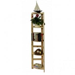 Drevený regál Rosary, 5 políc, 166x33x33 cm