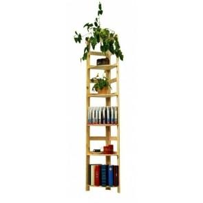 Drevený regál Rosary, 6 políc, 204x33x33 cm