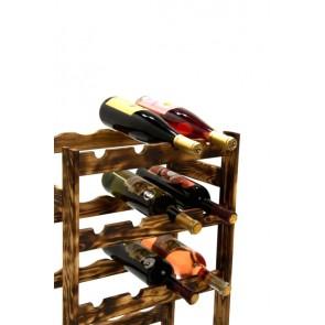 Regál na víno Rovan, 16 fliaš, Rustikal, 54x44x25 cm