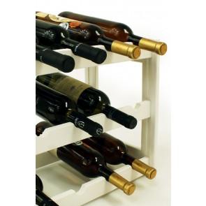 Regál na víno Riper, na 12 fliaš, Lazur - biely, 38x44x25 cm