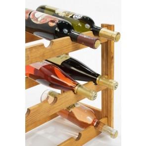 Regál na víno Riper, na 12 fliaš, Lazur - gaštan, 38x44x25 cm