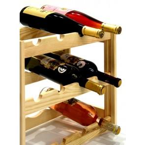 Regál na víno Riper, 12 fliaš, Natur, 38x44x25 cm