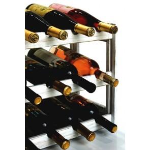 Regál na víno Riper, na 12 fliaš, Provance - biely, 38x44x25 cm