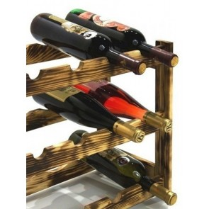 Regál na víno Riper, 12 fliaš, Rustikal, 38x44x25 cm