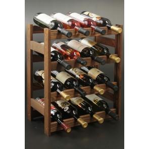 Regál na víno Rovan, na 16 fliaš, Lazur - palisander, 54x44x25 cm