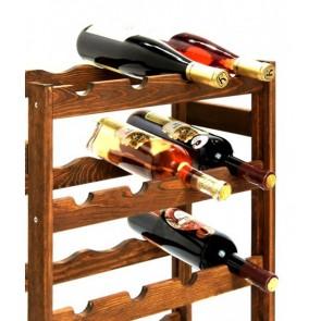 Regál na víno Rifor, na 20 fliaš, Lazur - palisander, 70 x 44 x 25 cm