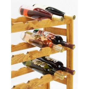 Regál na víno Rendal, na 30 fliaš, Lazur - gaštan, 86x53x25 cm