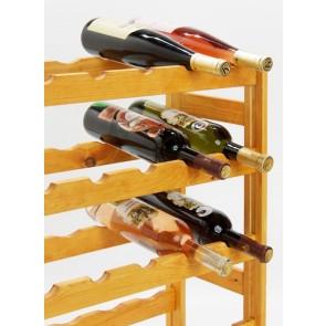 Regál na víno Rendal, na 30 fliaš, Lazur - mahagón, 86x53x25 cm