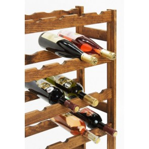 Regál na víno Rendal, na 30 fliaš, Lazur - palisander, 86 x 53 x 25 cm