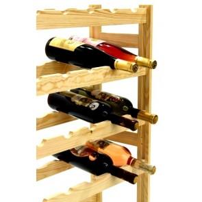 Regál na víno Rendal, na 30 fliaš, Natur, 86x53x25 cm