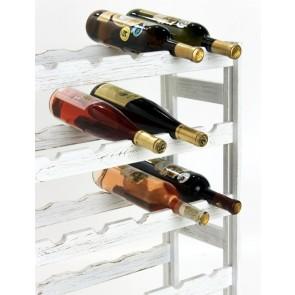 Regál na víno Rendal, na 30 fliaš, Provance - biely, 86x53x25 cm