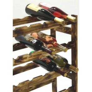 Regál na víno Rendal, na 30 fliaš, Rustikal, 86x53x25 cm
