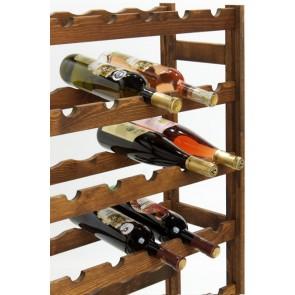 Regál na víno Roots, na 42 fliaš, Lazur - palisander, 102x62,5x25 cm
