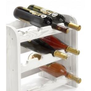 Regál na víno Roder, na 12 fliaš, odtieň Lazur - biely, 38x42x27 cm