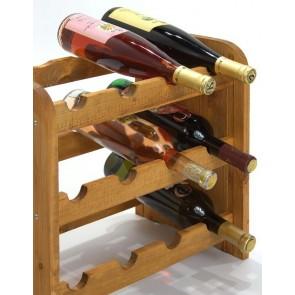 Regál na víno Roder, na 12 fliaš, odtieň Lazur - gaštan, 38x42x27 cm
