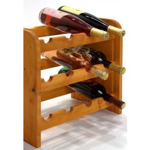 Regál na víno Roder, na 12 fliaš, odtieň Lazur - mahagón, 38x42x27 cm