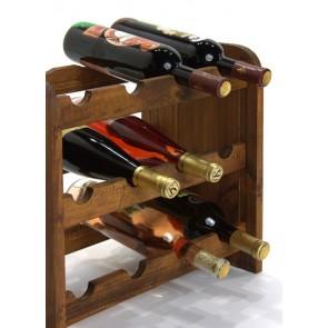 Regál na víno Roder, na 12 fliaš, odtieň Lazur - palisander, 38x42x27 cm