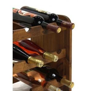 Regál na víno Rubit, na 24 fliaš, odtieň Lazur - palisander, 65x63x27 cm
