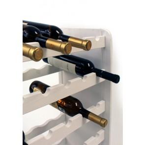 Regál na víno Rothis, na 30 fliaš, odtieň Lazur - biely, 65x63x27 cm