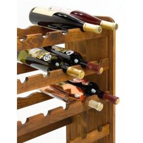 Regál na víno Rothis, na 30 fliaš, odtieň Lazur palisander, 65x63x27 cm