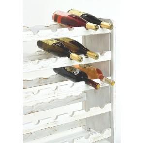 Regál na víno Rothis, na 30 fliaš, odtieň Provance biely, 65x63x27 cm