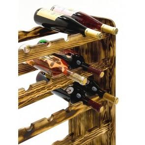 Regál na víno Rothis, na 30 fliaš v odtieni Rustikal, 65x63x27 cm