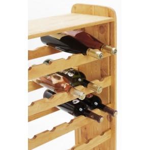 Regál na víno Robon, na 36 fliaš, odtieň Lazur - gaštan, 91x63x27 cm