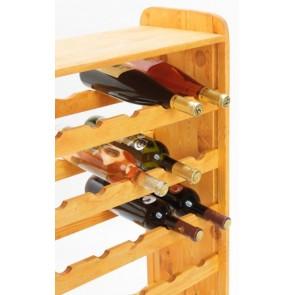 Regál na víno Robon, na 36 fliaš, odtieň Lazur - mahagón, 91x63x27 cm