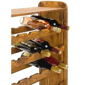 Regál na víno Robon, na 36 fliaš, odtieň Lazur - palisander, 91x63x27 cm